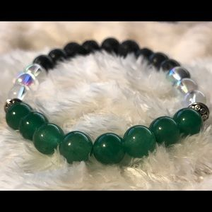 Jewelry - Green Agate Diffuser Bracelet